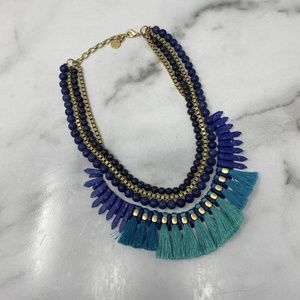 Stella and Dot Blue Layered Necklace